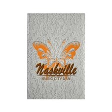 Nashville Music City-SG5-02 Rectangle Magnet