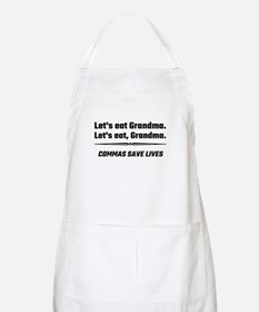 Let's Eat Grandma Commas Save Lives Apron