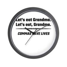 Let's Eat Grandma Commas Save Lives Wall Clock