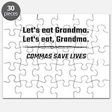 Let's Eat Grandma Commas Save Lives Puzzle
