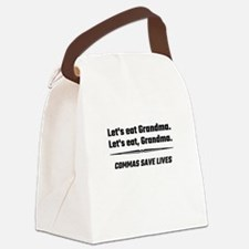 Let's Eat Grandma Commas Save Liv Canvas Lunch Bag
