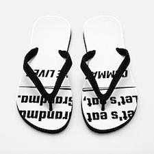 Let's Eat Grandma Commas Save Lives Flip Flops