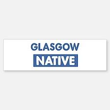 GLASGOW native Bumper Car Car Sticker