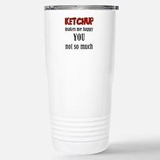 Ketchup Makes Me Happy Travel Mug