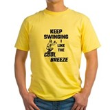 Baseball catcher Mens Classic Yellow T-Shirts