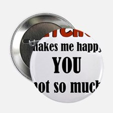 """Ketchup Makes Me Happy You 2.25"""" Button (10 pack)"""