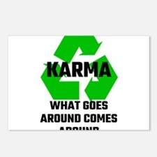 Karma What Goes Around Co Postcards (Package of 8)