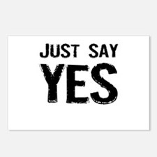Just Say Yes Postcards (Package of 8)
