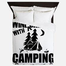Just Another Wine Drinker With A Campi Queen Duvet