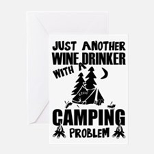 Just Another Wine Drinker With A Ca Greeting Cards