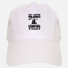 Just Another Wine Drinker With A Camping Probl Baseball Baseball Cap