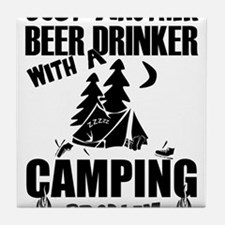 Just Another Beer Drinker With A Camp Tile Coaster