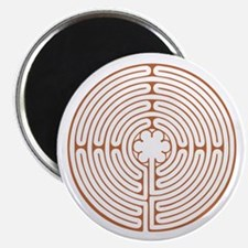 "Brown Chartres Labyrinth 2.25"" Magnet (10 pack)"