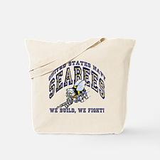 Cute Navy seabee Tote Bag