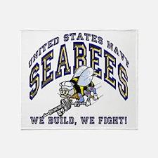 Unique Navy seabee Throw Blanket