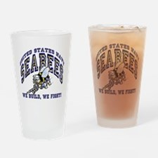 Unique Navy seabees Drinking Glass