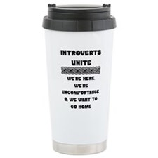 Introverts Unite Travel Coffee Mug