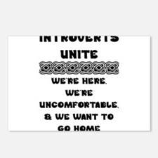 Introverts Unite Postcards (Package of 8)