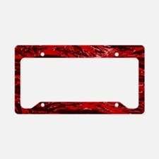 Red Striped Camo License Plate Holder