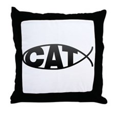 Cat Fish (Catfish) Throw Pillow