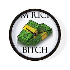 I'm Rich Bitch Wall Clock
