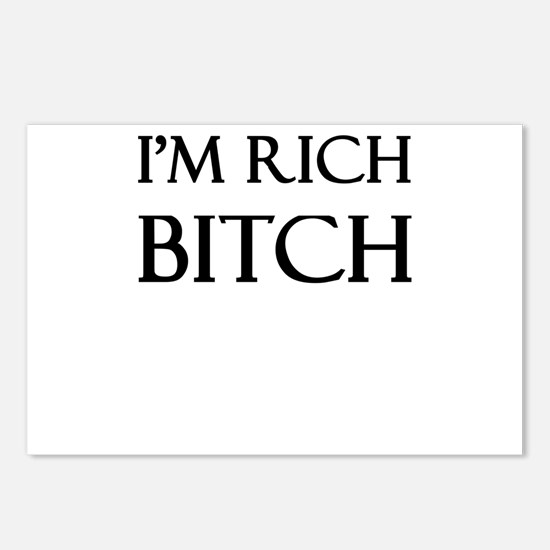 I'm Rich Bitch Postcards (Package of 8)
