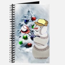 Baseball Snowman xmas Journal