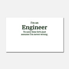 I'm an Engineer To save time Le Car Magnet 20 x 12