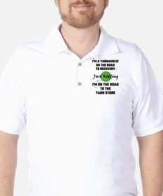 I'm A Yarnaholic On The Road To Recover Golf Shirt