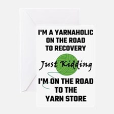 I'm A Yarnaholic On The Road To Rec Greeting Cards