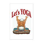 Let's Yoga Mini Poster Print