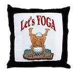 Let's Yoga Throw Pillow