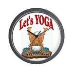 Let's Yoga Wall Clock