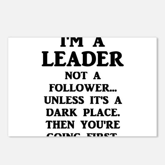 I'm A Leader Not A Follow Postcards (Package of 8)