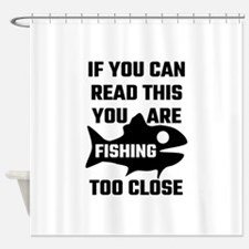 To Fish Or Not To Fish What A Stupi Shower Curtain