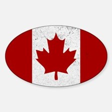 Canadian Flag Vintage Decal