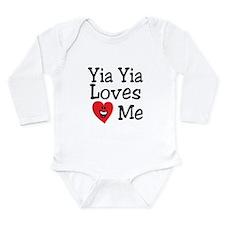 Cute Yia yia Long Sleeve Infant Bodysuit