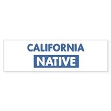 CALIFORNIA native Bumper Bumper Sticker