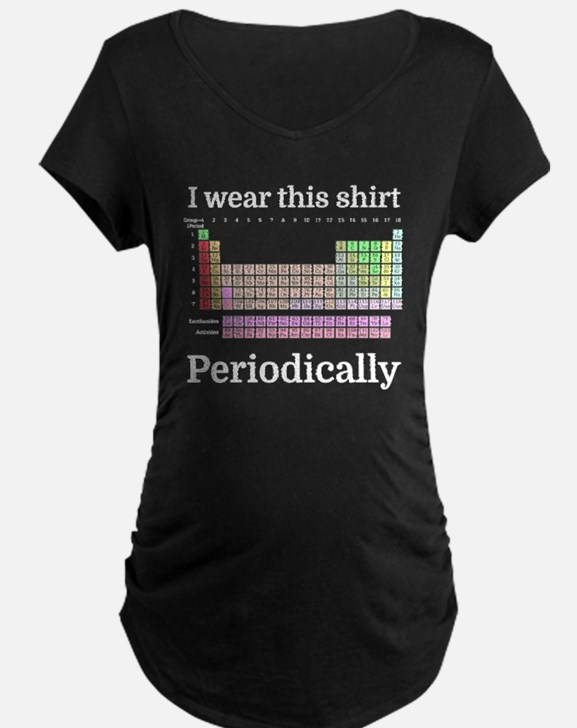 I wear this shirt Periodically Maternity T-Shirt