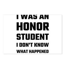 I Was An Honor Student I Postcards (Package of 8)