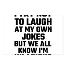 I Try Not To Laugh At My Postcards (Package of 8)