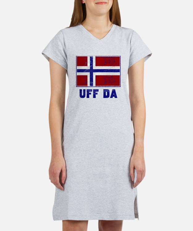 Uff Da Norway Flag Women's Nightshirt