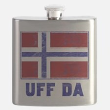 Uff Da Norway Flag Flask