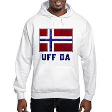 Uff Da Norway Flag Hoodie