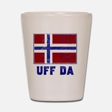 Uff Da Norway Flag Shot Glass