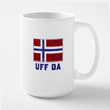 Uff Da Norway Flag Large Mug