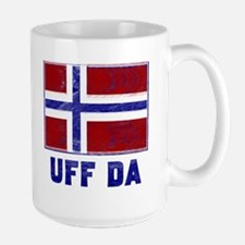 Uff Da Norway Flag Mug