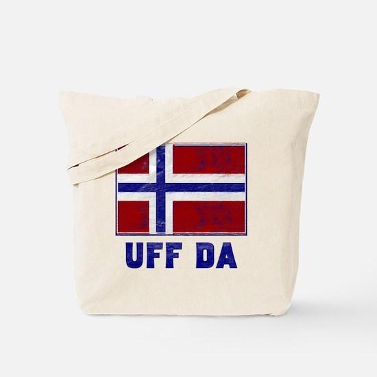 Uff Da Norway Flag Tote Bag