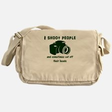 I shoot people and sometimes cut off Messenger Bag