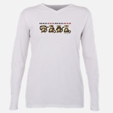 Hear No Evil Have No Fun Plus Size Long Sleeve Tee